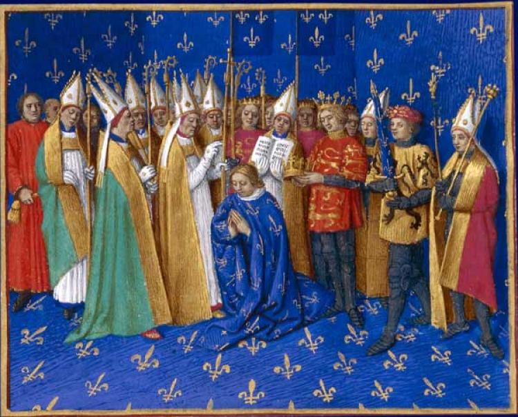 Коронация Филиппа Августинского - Жан Фуке