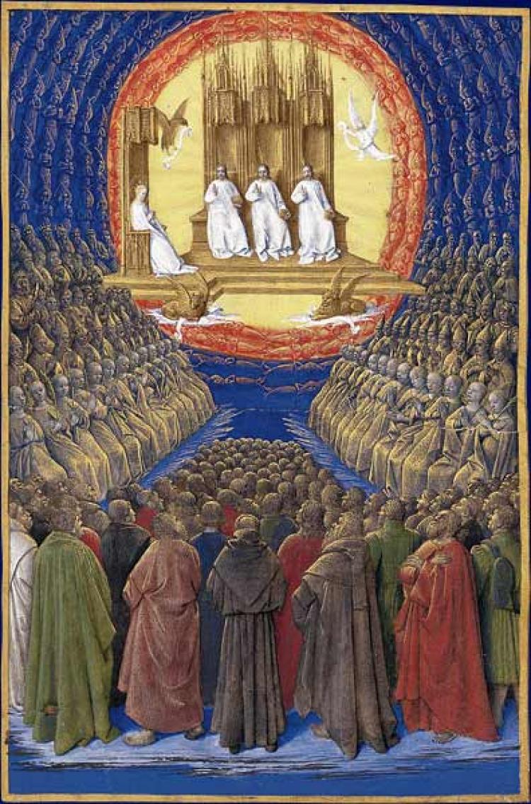 Пресвятая Троица, Дева Мария и все святые - Жан Фуке