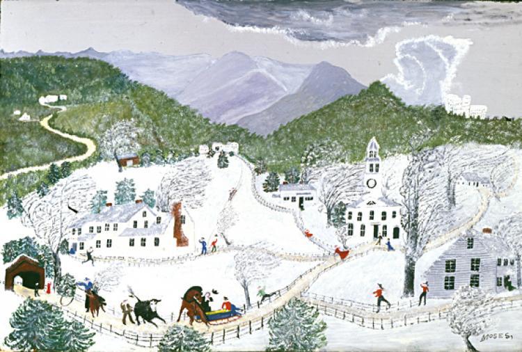 Бабушка Мозес - A Blizzard (1956) - Открыть в ...: classic-online.ru/ru/art/picture/Moses/96142