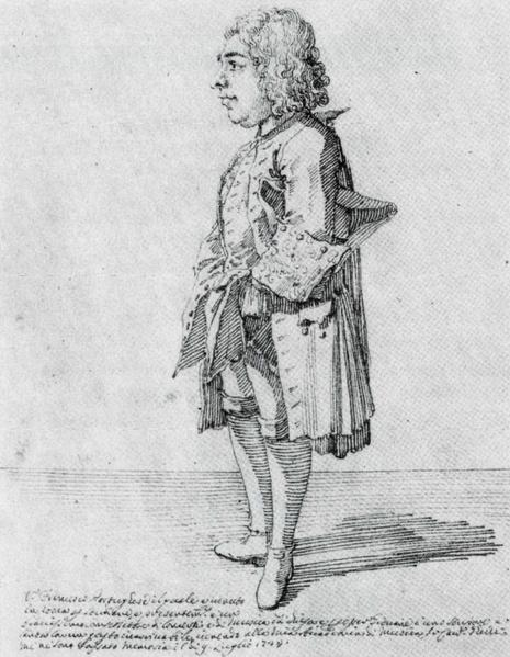 Opera `Spinalba or Mad old man` (1739),  (Almeida)