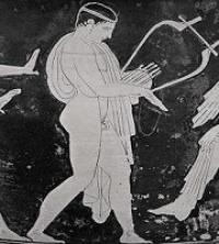 Homer singing: Demodocus song about Ares and Aphrodite from the poem `The Odyssey» (VIII century. BC. E.),  (Anonymous)
